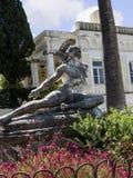 Statue von sterbendem Achilleus im Achillieon-Palast auf der Insel von Korfu Griechenland errichtet von der Kaiserin Elizabeth vo Stockfoto