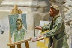 Statue von Vincent van Gogh lizenzfreie stockfotos