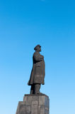 Statue von Vladimir Lenin in Krasnoyarsk stockfoto