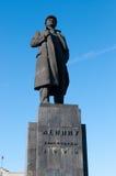 Statue von Vladimir Lenin in Krasnoyarsk lizenzfreies stockfoto
