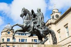 Statue von Wellington in Edinburgh Lizenzfreie Stockfotos