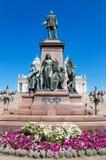 Statue von ZAR Alexander II. am 22. Juni 2013 in Helsinki, Finnland Stockbilder