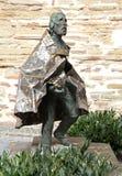 Statue vor Aachen-Kathedrale, Deutschland Lizenzfreies Stockbild