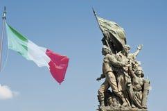 Statue vorderes Altare-della Patria in Rom Italien Stockfoto