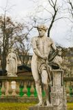 Statue of Vulcan in the Jardin du Luxembourg, Paris, France. Statue of Vulcan, Roman God of Fire in ancient Roman religion and myth. in the Jardin du Luxembourg stock photo