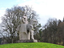 Statue of Vytautas the Great, Lithuania. Statue of Vytautas the Great in Birstonas town park, Lithuania Stock Images