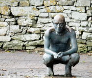 Statue Of W. B. Yeats In Drumcliffe Cemetery Ireland Stock Photography