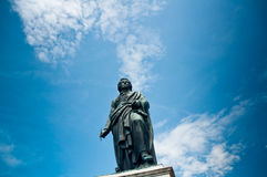 Statue of W.A.Mozart. Statue of famous composer W.A.Mozart in Salzburg, Austria Royalty Free Stock Photography