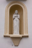 Statue in the wall of Svedasai Church Royalty Free Stock Image