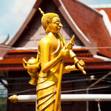 Statue of wandering monk in Thailand, Phuket Stock Photos