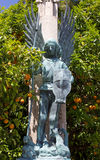 Statue of a Warrior Angel in Valencia Stock Image