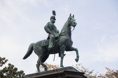 Statue of warrior on horse in Ueno Royalty Free Stock Photos