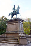 Statue of warrior on horse in Ueno Stock Images