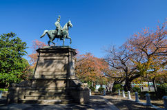 Statue of warrior on horse in Ueno, Tokyo Royalty Free Stock Images