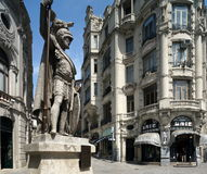 Statue of a Warrior in Porto Stock Photography