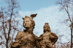 Statue in Warsaw - Poland stock image