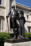 Statue of Washington. Outside of the National Gallery in London Royalty Free Stock Photos
