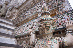 Statue of Wat Arun in Bankok Stock Image