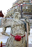 Statue Wat Arun im Tempel, Thailand. Lizenzfreies Stockbild