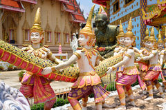 Statue at Wat Hua Thanon Temple Royalty Free Stock Photo