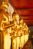 Statue in Wat Po. Golden statue in Wat Po, Bangkok, Thailand Stock Photography