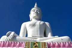 Statue weißer großer Buddha Stockfoto