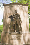 Statue of Wendell Phillips. A statue in the Boston Common of Wendell Phillips, a prophet of Liberty and champion of the slave, Boston, MA, USA Royalty Free Stock Photography