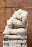 Statue white elephant Stock Image