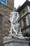 Statue of white marble Hercules in Florence Royalty Free Stock Images