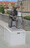 Statue Wijtschate Belgien des Tunneller WW1 lizenzfreies stockbild