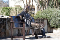 The statue of wild bill in boerne texas Stock Photos