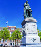 Statue of Wilhelm II on Plein, Hague, Holland Royalty Free Stock Image