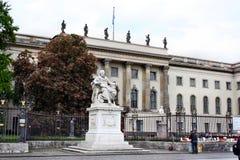 Statue of Wilhelm von Humboldt Stock Images