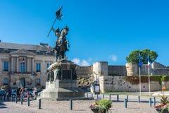 Statue of William the Conqueror Stock Photo