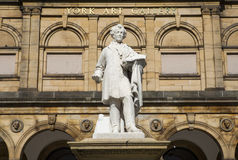 Statue of William Etty and York Art Gallery Royalty Free Stock Photography