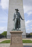 Statue of William Prescott. Statue of Colonel William Prescott stands in front of Bunker Hill Memorial. It stands 221 feet tall at Breed's Hill, the site of the Stock Images
