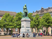 Statue of William the Silent on Het Plein square of The Hague. Netherlands. The statue by the Flemish sculptor Louis Royer was unveiled on June 5, 1848 stock images