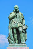 Statue of William the Silent on Het Plein square of The Hague. Netherlands. The statue by the Flemish sculptor Louis Royer was unveiled on June 5, 1848 Royalty Free Stock Photos
