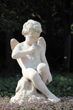 Statue of a winged angel Stock Images
