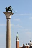 Statue of winged Lion, symbol of the serenissima Republic of Ven Stock Image