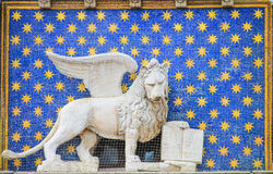 A Statue of the winged lion symbol of Venice Royalty Free Stock Photo
