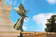 Statue of a winged woman in Piazza Venezia, Rome, Italy Royalty Free Stock Image