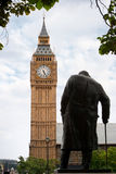 Statue of Winston Churchill. London Royalty Free Stock Images