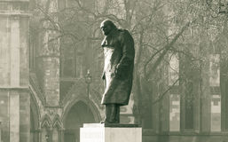 Statue of Winston Churchill in Parliament Square London Royalty Free Stock Image
