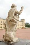 Statue Wisdom near Big Gatchina Palace. Royalty Free Stock Photo