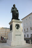 Statue of Wolfgang Amadeus Mozart. In Salzburg Stock Photo