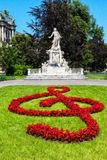 Statue of Wolfgang Amadeus Mozart in  Vienna. Austria. Royalty Free Stock Photography