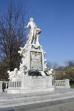 Statue of Wolfgang Amadeus Mozart in Vienna Stock Image