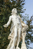 Statue of Wolfgang Amadeus Mozart, Vienne, Austria. The marmor statue of the great musician Wolfgang Amadeus Mozart in Vienna, Austria, built in 1896 Royalty Free Stock Photo