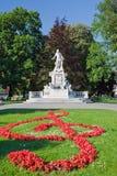 Statue of Wolfgang Amdeus Mozart. In Burggarten, Vienna Stock Image